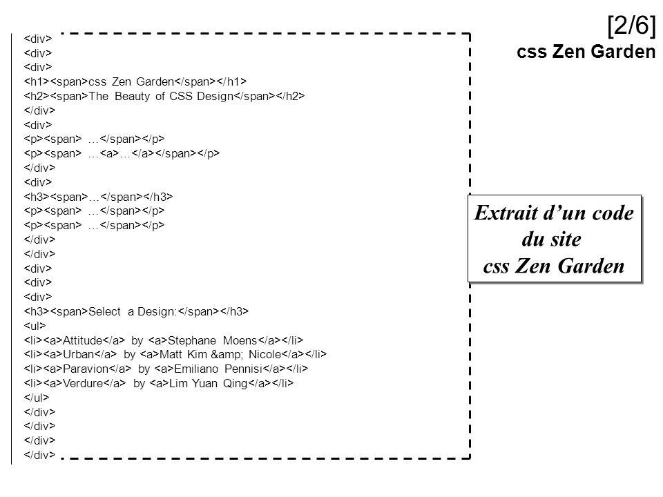 [2/6] Extrait d'un code du site css Zen Garden css Zen Garden